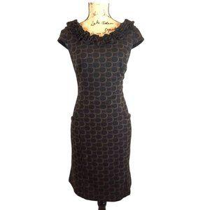 Sophia Christina Ruffle Cap Sleeve Knit  Dress